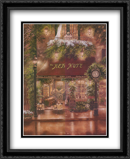 Peter Prisco Trio II 2x Matted 26x32 Large Gold or Black or Gold Ornate Framed Art Print by Betsy Brown