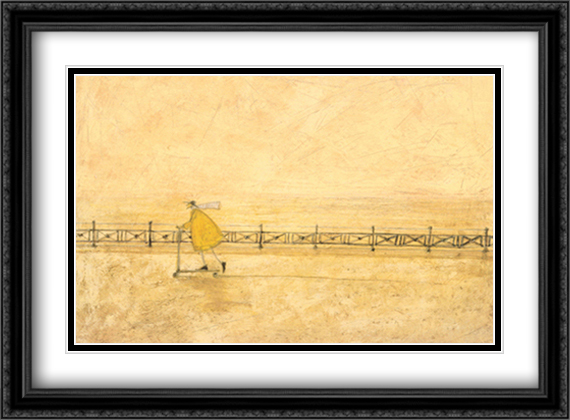 Born to Be Wild 2x Matted 32x24 Large Gold or Black or Gold Ornate Framed Art Print by Sam Toft