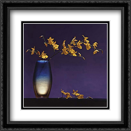 Flowers in a Vase, 1985 2x Matted 28x28 Large Gold or Black or Gold Ornate Framed Art Print by Robert Mapplethorpe