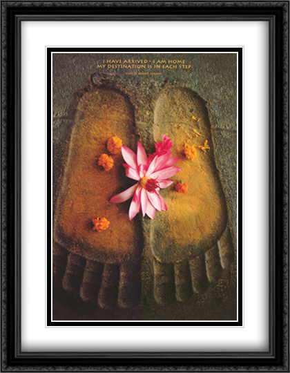 Thich Nhat Hanh-I Have Arrived 2x Matted 24x32 Large Gold or Black or Gold Ornate Framed Art Print