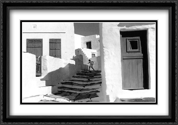 Sifnos, Greece 1961 2x Matted 32x24 Large Gold or Black or Gold Ornate Framed Art Print by Henri Cartier Bresson