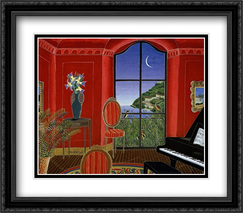 San Remo 2x Matted 28x24 Large Gold or Black or Gold Ornate Framed Art Print by Thomas McKnight