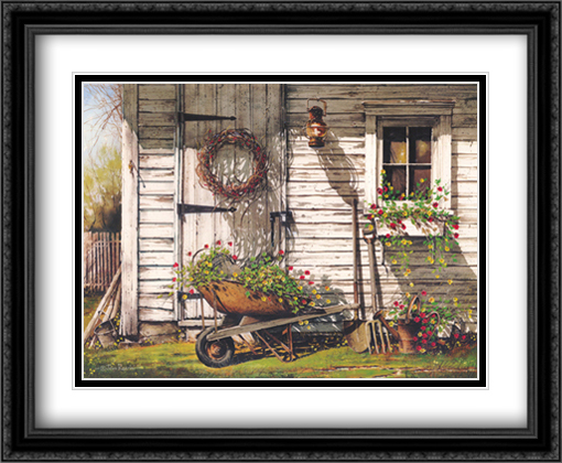 Spring Cleaning 2x Matted 28x22 Large Gold or Black or Gold Ornate Framed Art Print by John Rossini