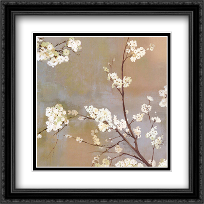 Ode to Spring I 2x Matted 23x23 Large Gold or Black or Gold Ornate Framed Art Print by Asia Jensen