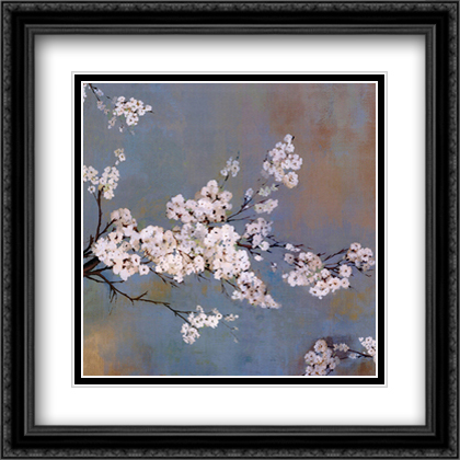 Ode to Spring II 2x Matted 23x23 Large Gold or Black or Gold Ornate Framed Art Print by Asia Jensen