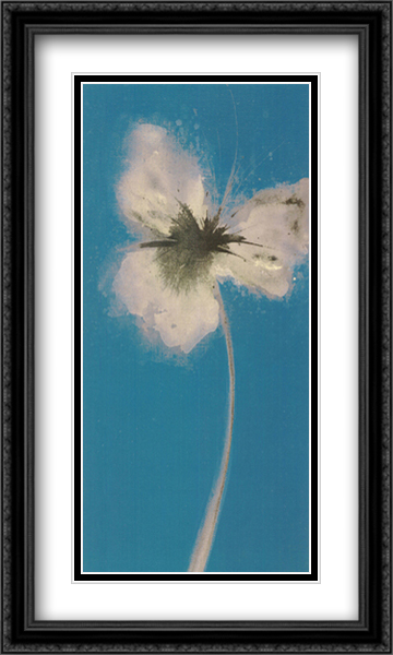 Ethereal Blue II 2x Matted 28x16 Large Gold or Black or Gold Ornate Framed Art Print by Emma Forrester