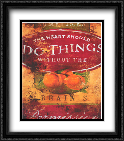 Do Things 2x Matted 26x32 Large Gold or Black or Gold Ornate Framed Art Print by Rodney White