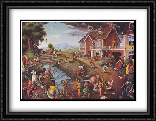 Proverbidioms 2x Matted 32x26 Large Gold or Black or Gold Ornate Framed Art Print by Thomas E. Breitenbach