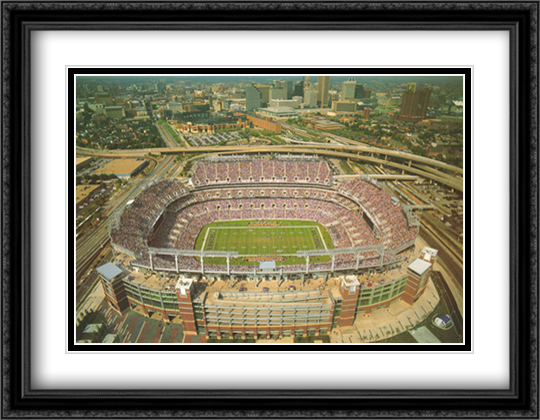 Baltimore, Maryland, Ravens Stadium 2x Matted 32x26 Large Gold or Black or Gold Ornate Framed Art Print by Mike Smith