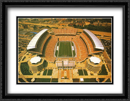 Pittsburgh, Pennsylvania, Heinz Field 2x Matted 32x26 Large Gold or Black or Gold Ornate Framed Art Print by Mike Smith