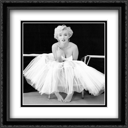 Marilyn Monroe, Ballet Dancer 2x Matted 24x24 Large Gold or Black or Gold Ornate Framed Art Print by Milton Greene