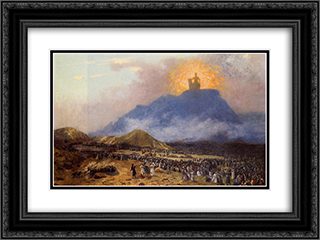 Moses on Mount Sinai 24x18 Black or Gold Ornate Framed and Double Matted Art Print by Jean Leon Gerome