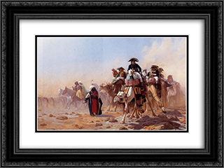 Napoleon and His General Staff 24x18 Black or Gold Ornate Framed and Double Matted Art Print by Jean Leon Gerome
