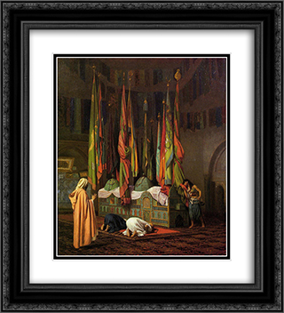 The Tomb of Hazrat Imam Hisain Allahis Salam 20x22 Black or Gold Ornate Framed and Double Matted Art Print by Jean Leon Gerome