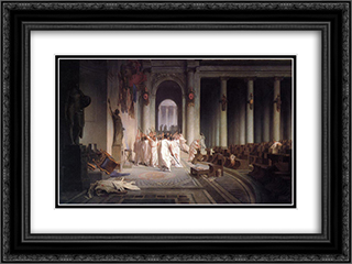 The Death of Caesar 24x18 Black or Gold Ornate Framed and Double Matted Art Print by Jean Leon Gerome