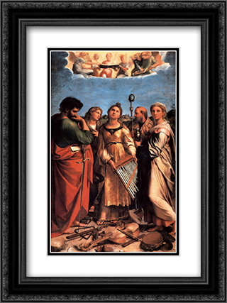 The Saint Cecilia Altarpiece 18x24 Black or Gold Ornate Framed and Double Matted Art Print by Raphael
