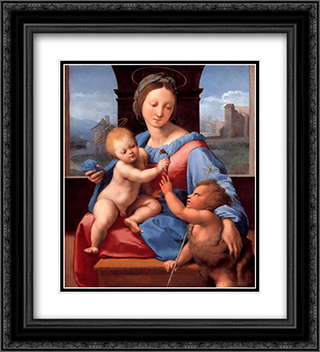 The Garvagh Madonna 20x22 Black or Gold Ornate Framed and Double Matted Art Print by Raphael