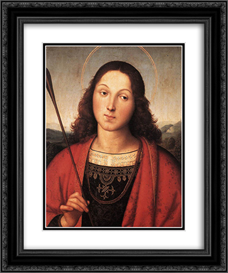 St Sebastian 20x24 Black or Gold Ornate Framed and Double Matted Art Print by Raphael