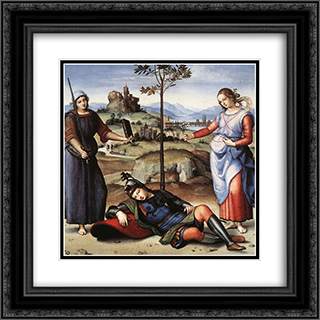 Allegory 20x20 Black or Gold Ornate Framed and Double Matted Art Print by Raphael