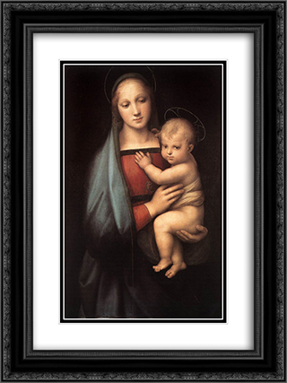 The Granduca Madonna 18x24 Black or Gold Ornate Framed and Double Matted Art Print by Raphael
