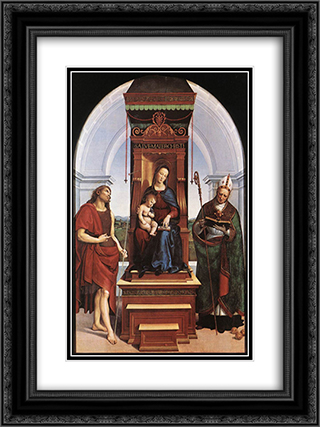 Madonna and Child 18x24 Black or Gold Ornate Framed and Double Matted Art Print by Raphael