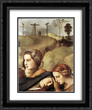 The Entombment [detail: 1] 20x24 Black or Gold Ornate Framed and Double Matted Art Print by Raphael