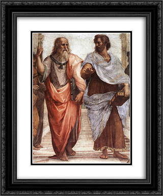 The School of Athens [detail: 1] 20x24 Black or Gold Ornate Framed and Double Matted Art Print by Raphael
