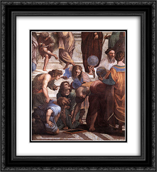The School of Athens [detail: 3] 20x22 Black or Gold Ornate Framed and Double Matted Art Print by Raphael
