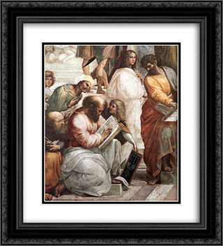 The School of Athens [detail: 4] 20x22 Black or Gold Ornate Framed and Double Matted Art Print by Raphael