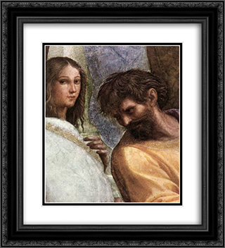 The School of Athens [detail: 5] 20x22 Black or Gold Ornate Framed and Double Matted Art Print by Raphael