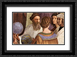 The School of Athens [detail: 6] 24x18 Black or Gold Ornate Framed and Double Matted Art Print by Raphael