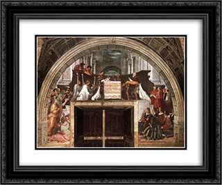 The Mass at Bolsena 24x20 Black or Gold Ornate Framed and Double Matted Art Print by Raphael