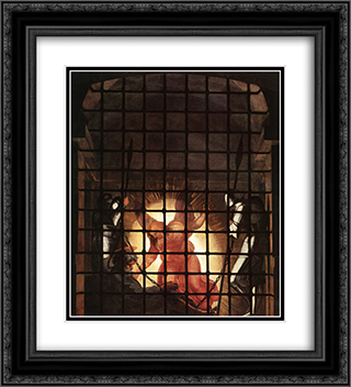 The Liberation of St Peter [detail: 2] 20x22 Black or Gold Ornate Framed and Double Matted Art Print by Raphael
