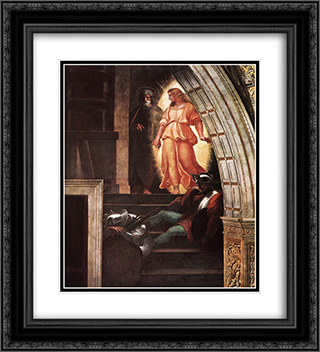 The Liberation of St Peter [detail: 3] 20x22 Black or Gold Ornate Framed and Double Matted Art Print by Raphael