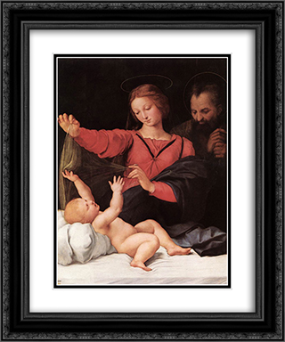 Madonna of Loreto 20x24 Black or Gold Ornate Framed and Double Matted Art Print by Raphael