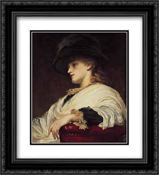 Phoebe 20x22 Black or Gold Ornate Framed and Double Matted Art Print by Frederic Leighton