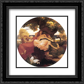 The Garden of the Hesperides 20x20 Black or Gold Ornate Framed and Double Matted Art Print by Frederic Leighton