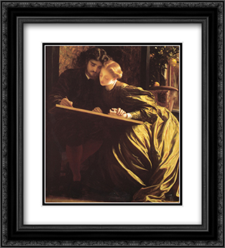 The Painter's Honeymoon 20x22 Black or Gold Ornate Framed and Double Matted Art Print by Frederic Leighton