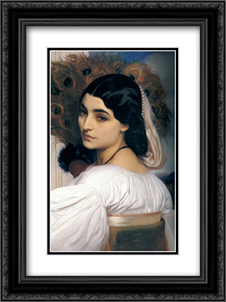 Pavonia 18x24 Black or Gold Ornate Framed and Double Matted Art Print by Frederic Leighton