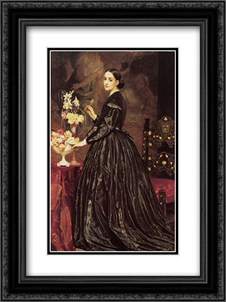 Mrs James Guthrie 18x24 Black or Gold Ornate Framed and Double Matted Art Print by Frederic Leighton