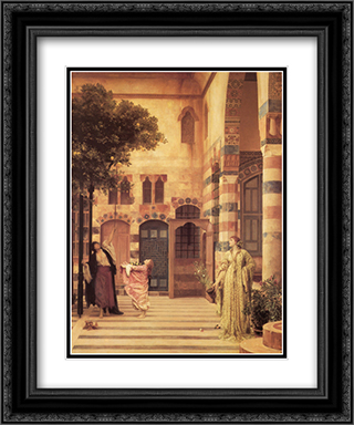 Old Damascus: Jew's Quarter 20x24 Black or Gold Ornate Framed and Double Matted Art Print by Frederic Leighton