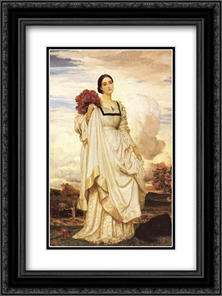 The Countess Brownlow 18x24 Black or Gold Ornate Framed and Double Matted Art Print by Frederic Leighton