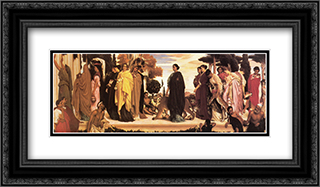 The Syracusan Bride 24x14 Black or Gold Ornate Framed and Double Matted Art Print by Frederic Leighton