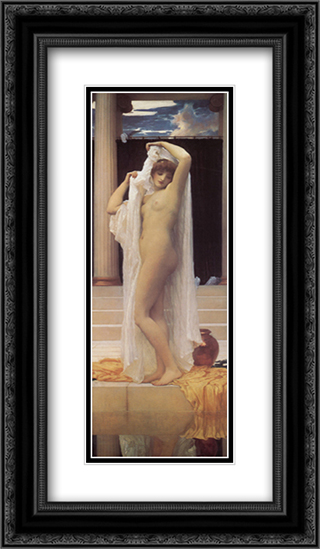 The Bath of Psyche 14x24 Black or Gold Ornate Framed and Double Matted Art Print by Frederic Leighton