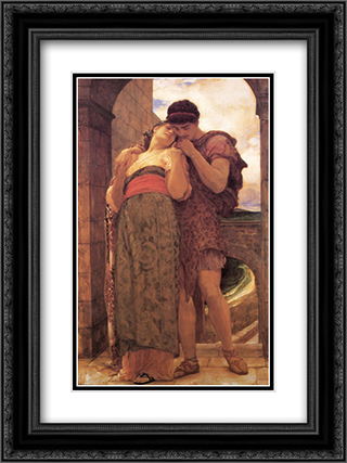 Wedded 18x24 Black or Gold Ornate Framed and Double Matted Art Print by Frederic Leighton