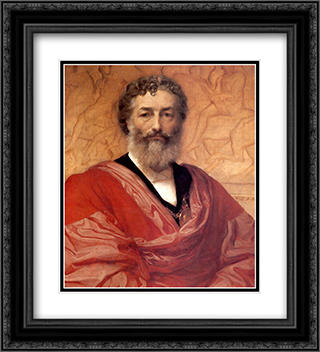Self-portrait 20x22 Black or Gold Ornate Framed and Double Matted Art Print by Frederic Leighton