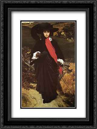 May Sartoris 18x24 Black or Gold Ornate Framed and Double Matted Art Print by Frederic Leighton