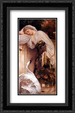 Odalisque 16x24 Black or Gold Ornate Framed and Double Matted Art Print by Frederic Leighton