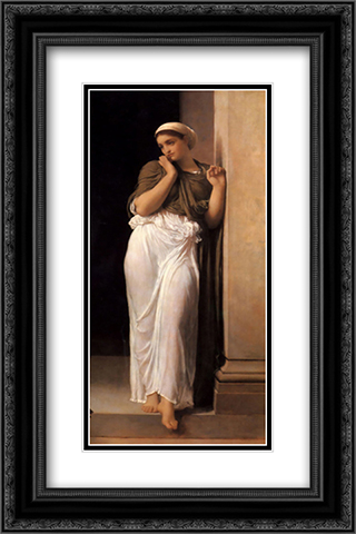 Nausicaa 16x24 Black or Gold Ornate Framed and Double Matted Art Print by Frederic Leighton
