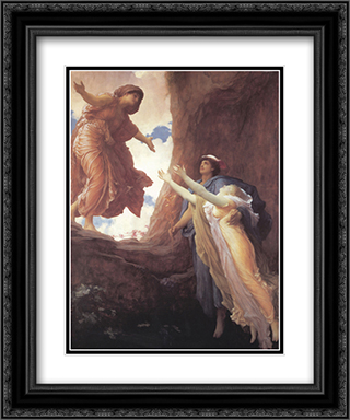 Return of Persephone 20x24 Black or Gold Ornate Framed and Double Matted Art Print by Frederic Leighton